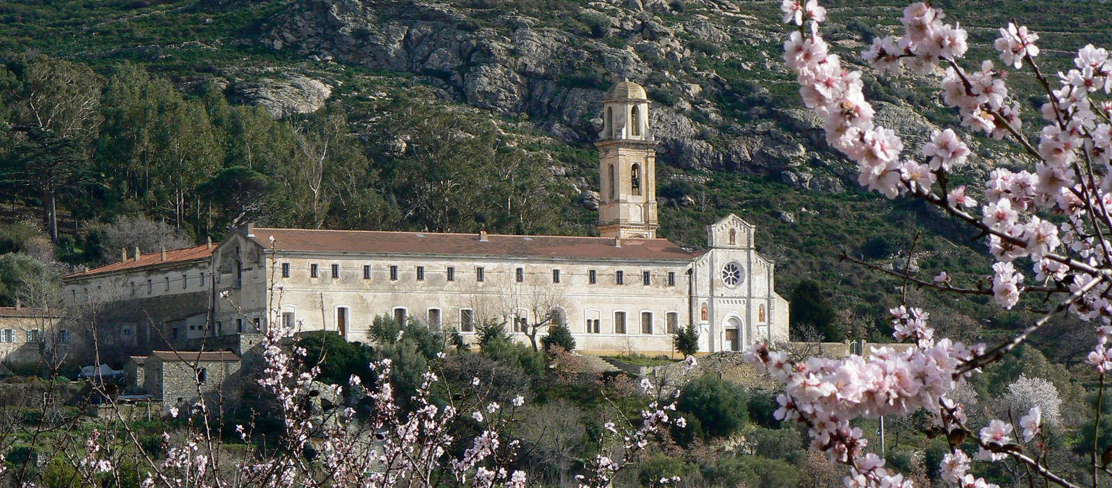 Le couvent de Corbara avec au premier plan N.D De Latiu